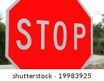 stop sign | Shutterstock . vector #19983925