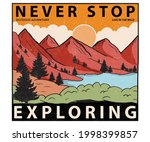 never stop exploring at the... | Shutterstock .eps vector #1998399857