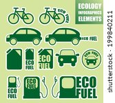 ecology transport elements. | Shutterstock .eps vector #199840211