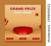 grand prize winner announcement ... | Shutterstock .eps vector #1998404021