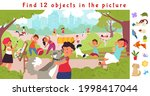 hidden objects puzzle game.... | Shutterstock .eps vector #1998417044