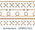 nautical ropes seamless. line...   Shutterstock .eps vector #1998417161