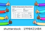 vaccination record card with...   Shutterstock .eps vector #1998421484