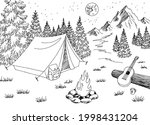 camping night graphic black... | Shutterstock .eps vector #1998431204