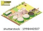 vector isometric biogas power...   Shutterstock .eps vector #1998440507