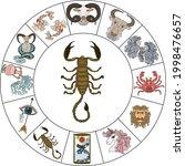 scorpio vector of astrology... | Shutterstock .eps vector #1998476657