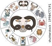 aries vector of astrology... | Shutterstock .eps vector #1998477191
