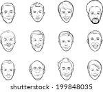 whiteboard drawing   cartoon... | Shutterstock .eps vector #199848035