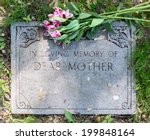 Grave Marker In Cemetery With...
