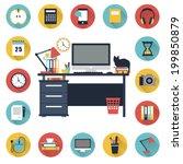 "icons set ""desktop""   Shutterstock .eps vector #199850879"