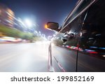 car on the road with motion... | Shutterstock . vector #199852169