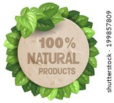 cardboard paper circle banner... | Shutterstock .eps vector #199857809