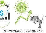 mosaic bull covid market icon...   Shutterstock .eps vector #1998582254