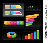 info graphic elements on black...