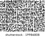 big collection of 333 sexiest... | Shutterstock .eps vector #19986808