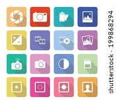 set of vector photography icons ... | Shutterstock .eps vector #199868294