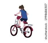 vector image of a girl on a...   Shutterstock .eps vector #1998686507