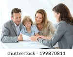 family meeting real estate... | Shutterstock . vector #199870811