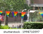 Many Small Rainbow Flags In...