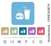 fast food menu with... | Shutterstock .eps vector #1998763874