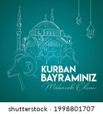 kurban bayram n z m barek olsun.... | Shutterstock .eps vector #1998801707