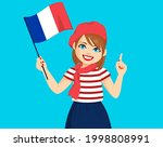 beautiful young french woman... | Shutterstock .eps vector #1998808991