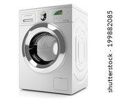 Modern Silver Washing Machine...