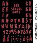 handmade  red  handmade chalk... | Shutterstock .eps vector #1998824477