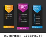 web pricing table design for...