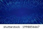 blue luminous ray beam...   Shutterstock . vector #1998856667