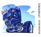blue semi truck illustration...   Shutterstock .eps vector #1998890801