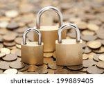 financial security. golden...   Shutterstock . vector #199889405