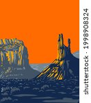 wpa poster art of mesas  buttes ... | Shutterstock .eps vector #1998908324