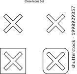 close icons set isolated on...