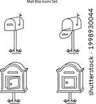 mailbox icons set isolated on...