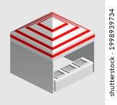 isometric market stall  tent.... | Shutterstock .eps vector #1998939734