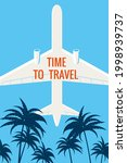 time to travel plane in the sky ... | Shutterstock .eps vector #1998939737