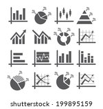 diagram and graphs icons | Shutterstock . vector #199895159