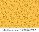 fortune cookie pattern...   Shutterstock .eps vector #1998963947