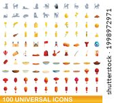 100 universal icons set.... | Shutterstock .eps vector #1998972971