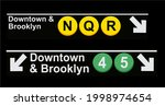 downtown and brooklyn sign in...   Shutterstock .eps vector #1998974654
