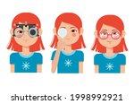 children vision checkup in... | Shutterstock .eps vector #1998992921