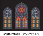Stained Glass Colorful Mosaic...