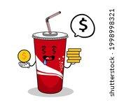 cartoon soft drink cola mascot  ...   Shutterstock .eps vector #1998998321