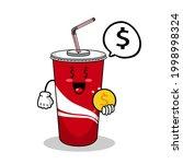 cartoon soft drink cola mascot  ...   Shutterstock .eps vector #1998998324
