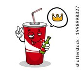 cartoon soft drink cola mascot  ...   Shutterstock .eps vector #1998998327