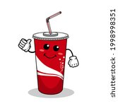 cartoon soft drink cola mascot  ...   Shutterstock .eps vector #1998998351