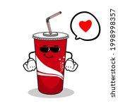 cartoon soft drink cola mascot  ...   Shutterstock .eps vector #1998998357