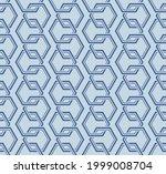 japanese overlap hexagon chain...   Shutterstock .eps vector #1999008704