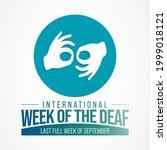international week of the deaf... | Shutterstock .eps vector #1999018121